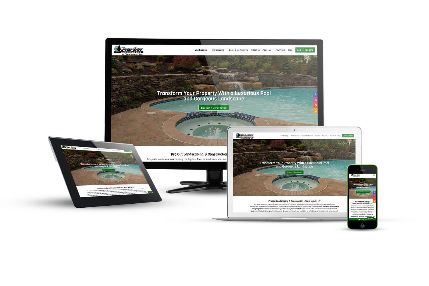 Procut Landscaping - Eternal NYC Website Design